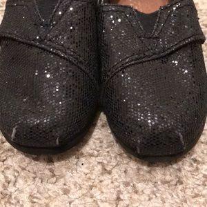 Toms Shoes - Kids toddler black sparkle glitter Toms size 7